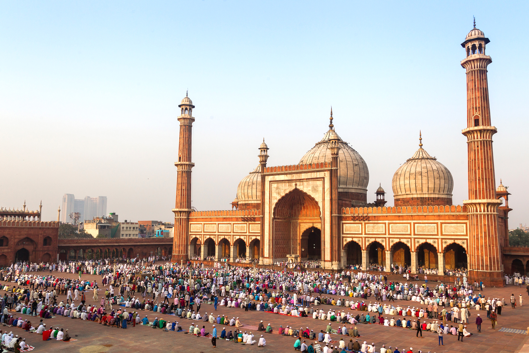 Jama Masjid during the festival of Eid.